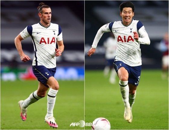 베일(왼쪽)과 손흥민. /AFPBBNews=뉴스1