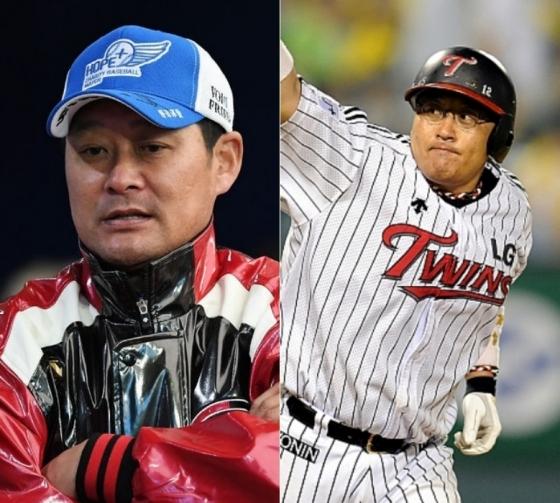 이종범(왼쪽) 코치와 조인성 코치.   /사진=OSEN