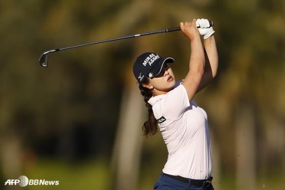 LPGA 투어 CME그룹 투어 챔피언십 3라운드 단독 선두에 오른 김세영. /AFPBBNews=뉴스1