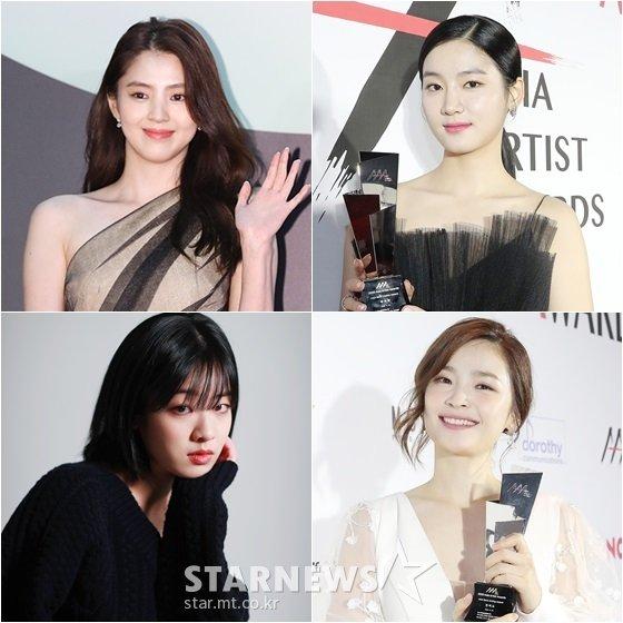 배우 한소희(왼쪽위부터 시계방향), 박주현, 전미도, 이주영 /사진=스타뉴스