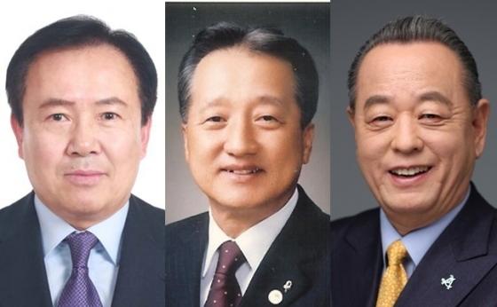 대한골프협회장 후보로 나선 박노승, 우기정, 이중명 씨(왼쪽부터)./사진=대한골프협회