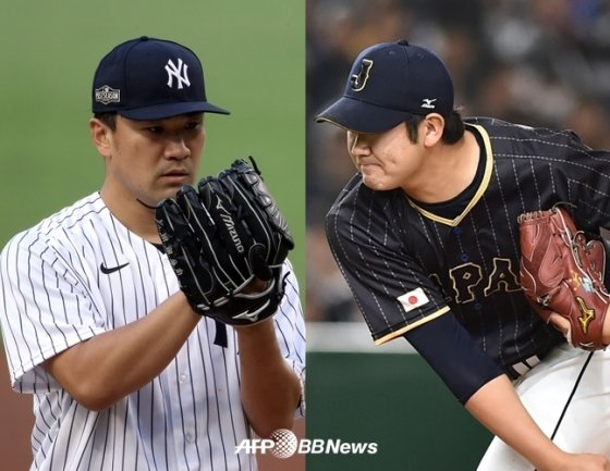 다나카(좌), 스가노. /AFPBBNews=뉴스1