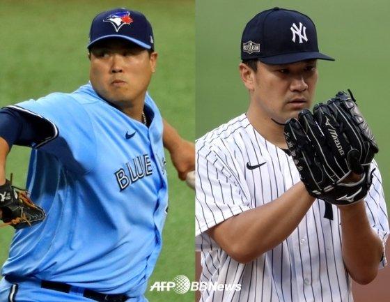류현진, 다나카. /AFPBBNews=뉴스1