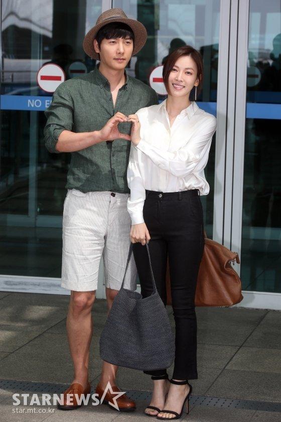 배우 이상우 김소연 부부 / 사진=임성균 기자 tjdrbs23@