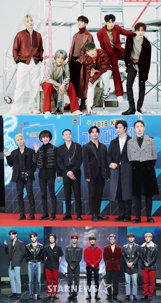 (위쪽부터)아이콘, 비투비, SF9 /사진=YG엔터테인먼트 제공, 스타뉴스