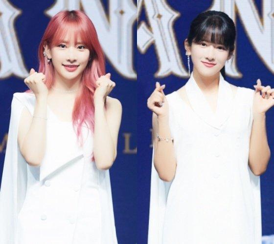 (왼쪽부터)우주소녀 설아, 엑시 /사진제공=스타쉽엔터테인먼트