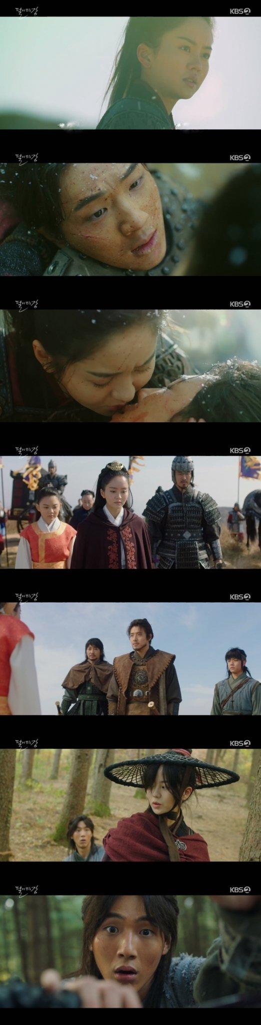 KBS 2TV 월화드라마 \'달이 뜨는 강\'에서 김소현, 지수가 각각 평강과 온달로 등장했다./사진=KBS 2TV 월화드라마 \'달이 뜨는 강\' 방송 화면 캡처