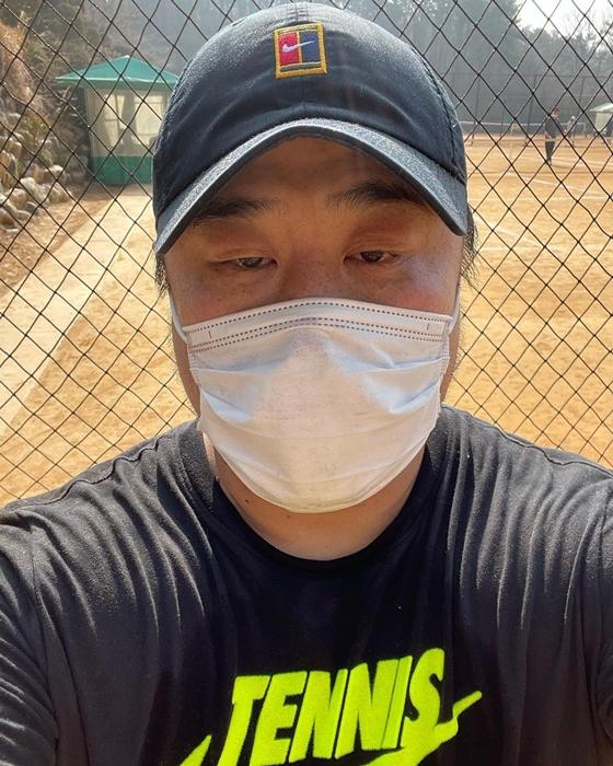 개그맨 강재준이 운동 후 인증 사진을 공개했다./사진=강재준 인스타그램