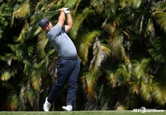 PGA 투어 개인 최고 성적을 낸 김주형. /AFPBBNews=뉴스1
