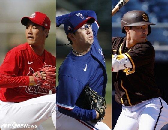 왼쪽부터 김광현, 양현종, 김하성. /AFPBBNews=뉴스1