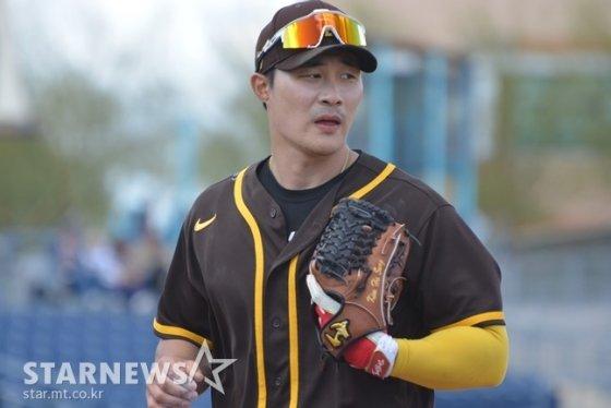 12일(한국시간) 클리블랜드전에 출전한 김하성. /사진=서프라이즈(미국 애리조나주)=-이상희 통신원