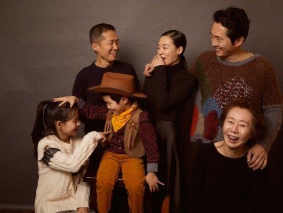 /사진=영화 '미나리'의 주역들