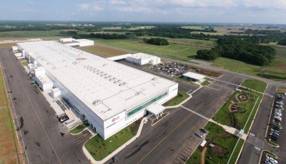 미국 남부 테네시주 클락스빌에 위치한 LG전자 세탁기 공장 전경