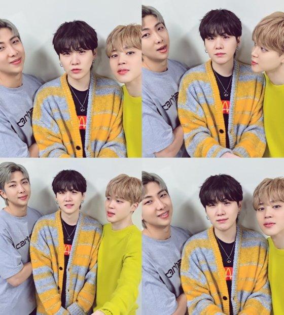 방탄소년단 지민, 슈가, RM(오른쪽부터)