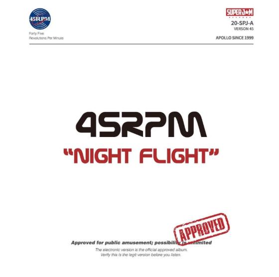 /사진=45RPM 'Night Flight' 앨범 재킷