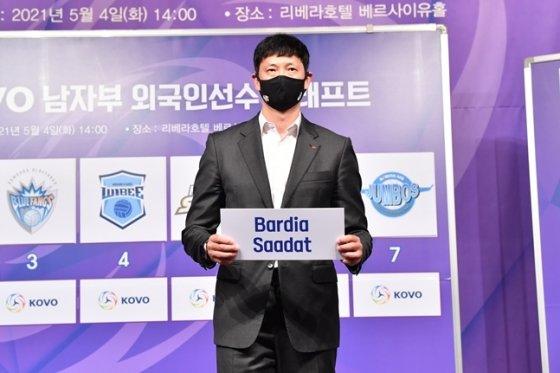 사닷을 지명한 장병철 한국전력 감독./KOVO
