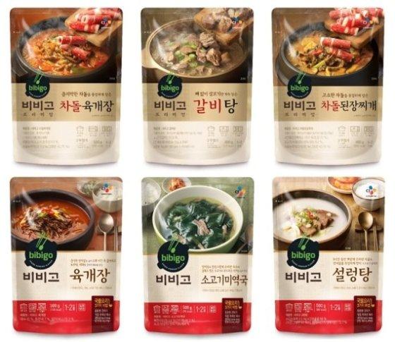 CJ제일제당 비비고 국물요리의 대표 제품들