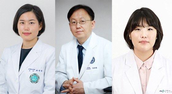(왼쪽부터)이대서울병원 최한솜 교수, 세브란스병원 강훈철, 고아라 교수/사진제공=이화의료원