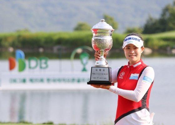 한국여자오픈에서 우승한 박민지./사진=KLPGA
