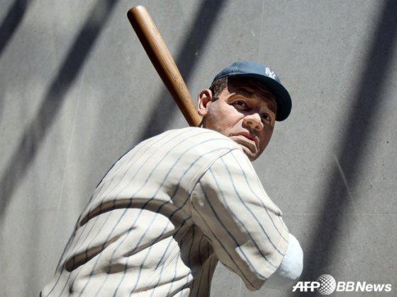 미국 야구 명예의 전당에 있는 베이브 루스의 조각상.  /AFPBBNews=뉴스1