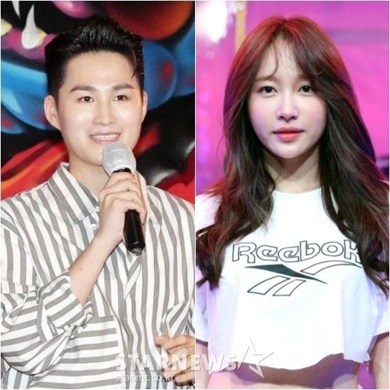 김희재(왼쪽)와 하니 /사진=스타뉴스