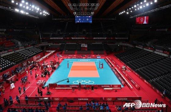 도쿄올림픽 배구 경기가 열리는 도쿄 아리아케 아레나.  /AFPBBNews=뉴스1