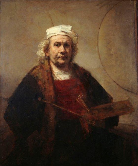 렘브란트 반 레인(Rembrandt Harmenszoon van Rijn), '두 개의 원이 있는 자화상(Self-Portrait with Two Circles)', c.1665-1669, Kenwood House, London.  사진제공= Heavy Horse via Wikimedia Commons/Public Domain.