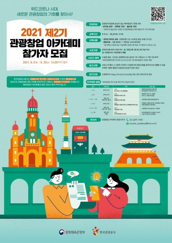 제2기 관광창업 아카데미 홍보 포스터