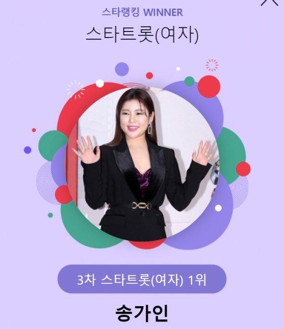 가수 송가인 /사진=스타랭킹 스타트롯