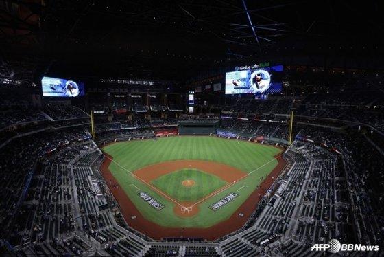 지난 해 10월 LA 다저스와 탬파베이의 월드시리즈가 열린 미국 텍사스주 글로브 라이프 필드 전경.  /AFPBBNews=뉴스1