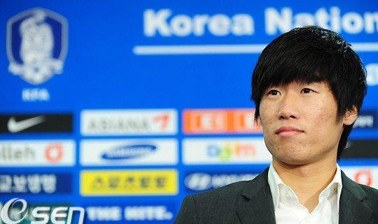 박지성이 2011년 1월 국가대표팀 은퇴 기자회견을 하고 있다. 당시 나이는 만 29세였다. /사진=OSEN
