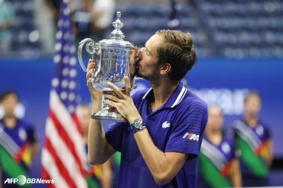 US오픈 우승을 차지한 다닐 메드베데프. /AFPBBNews=뉴스1