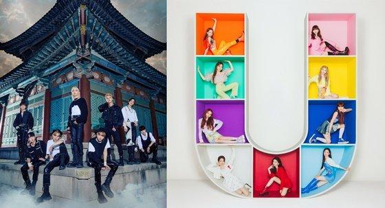 스트레이키즈(왼쪽), NiziU /사진제공=JYP엔터테인먼트