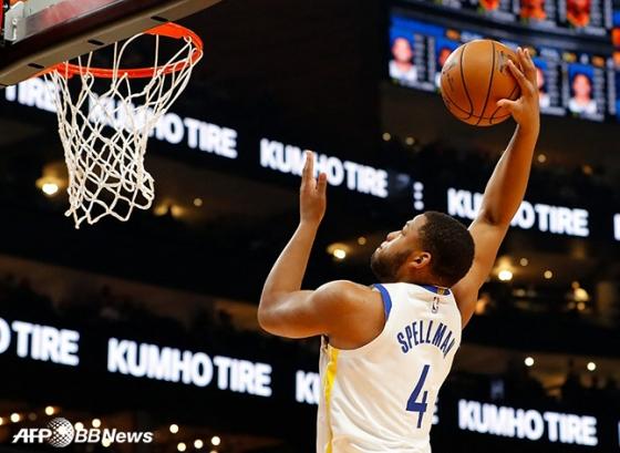 미국프로농구(NBA) 골든스테이트 소속이던 지난 2019년 스펠만의 모습. /AFPBBNews=뉴스1