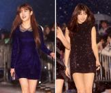 '국민여동생' 아이유-수지, 아찔한 초미니!