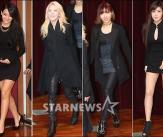 2NE1,여성미 넘치는 '올블랙 패션'